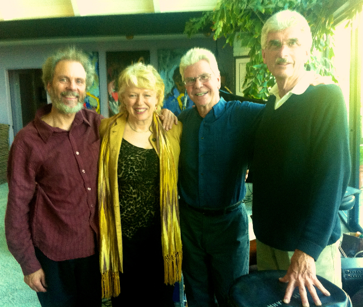 My old friends from San Diego, Peter Sprague, Bob Magnusson & Jim Plank @  Jazz at the A Frame, 2011
